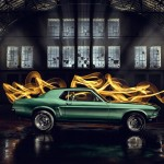 Light Painting Car Shoot Mustang
