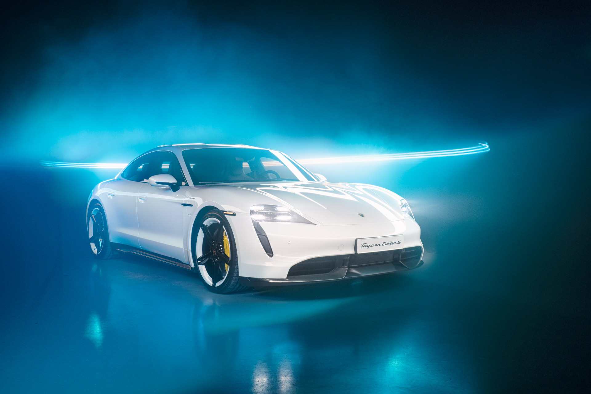 Porsche Taycan Lumenman Light Painting Photography Artist